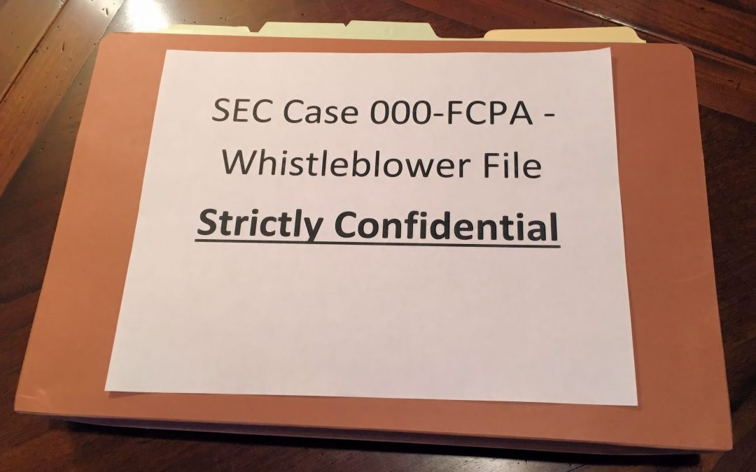 Confidential & Nonpublic: Dodd-Frank Whistleblower Submissions