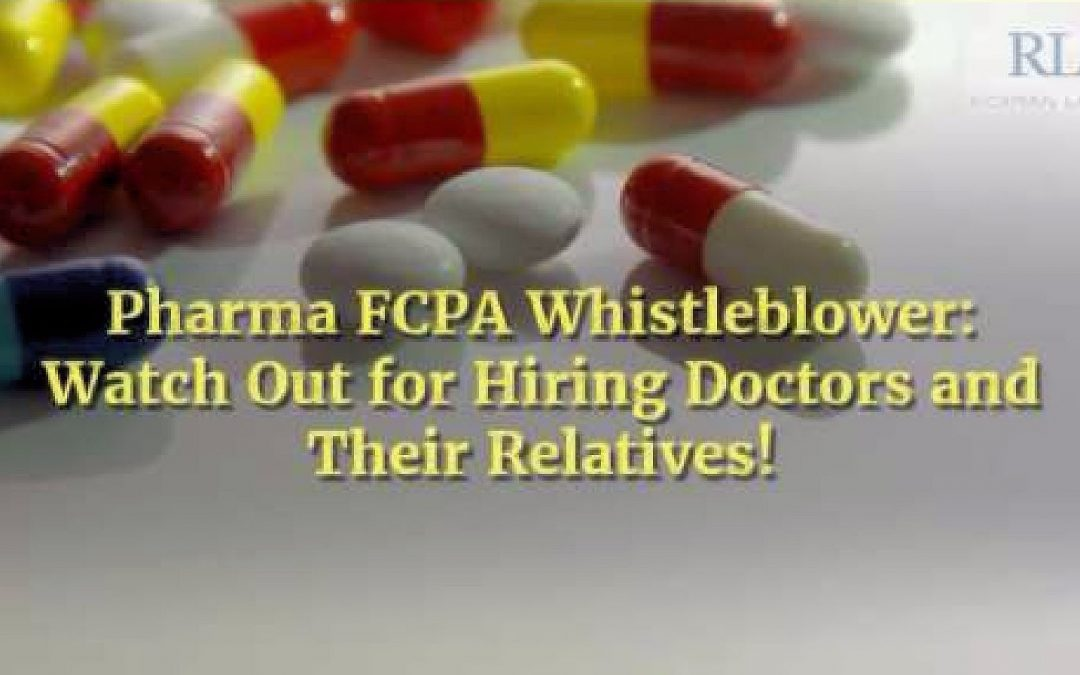 FCPA Rewards: Pharma Whistleblower Video Part IV